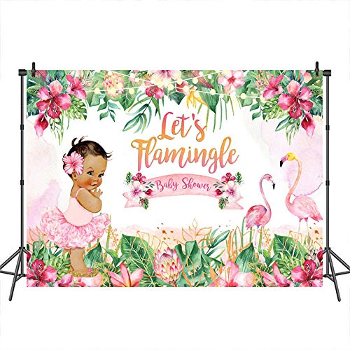 Backdrop Flamingo Floral Girl Personalised Photo Backdrop Photo Vinyl Backdrops Background Festival Background 3D Background Wall Wall Photography Wall Background Cloth Wall Background C