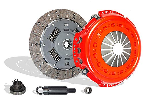 Heavy Duty Clutch Kit Compatible With RAM 2500 3500 Laramie SLT ST Base 2001-2005 5.9L l6 DIESEL OHV Turbo (Stage 2; FITS UP TO JANUARY 24, 2005; CUMMINS TURBO DIESEL;6 SPEED TRANS ONLY; 05-101R)