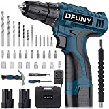 Cordless Drill Screwdriver Hammer Set with 2 Batteries, 16.8V 30Nm Electric Drill Screwdriver Set 38Pcs (2x1500mAh Batteries, 2 Speed, 18+1 Clutch, 3/8' Keyless Chuck, Built-in LED) for DIY Project