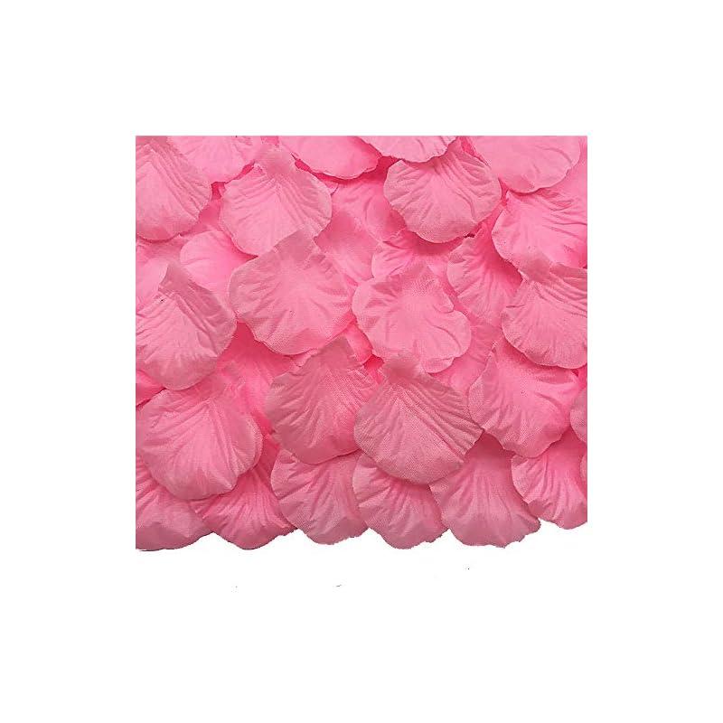 silk flower arrangements jemong 4000 pieces silk rose petals non-woven artificial flower petals for wedding confetti flower girl bridal shower hotel home party valentine day flower decoration(pink)