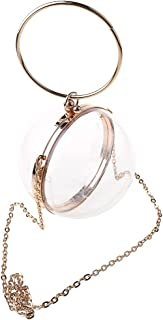 HDBD Handtasche Round Ball Clear Purse Acryl Box Abend Clutch Bag Transparente Handtaschen