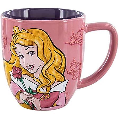 Disney Sleeping Beauty Mug Princess Aurora Full Cast Pink 16 FL Oz Cup