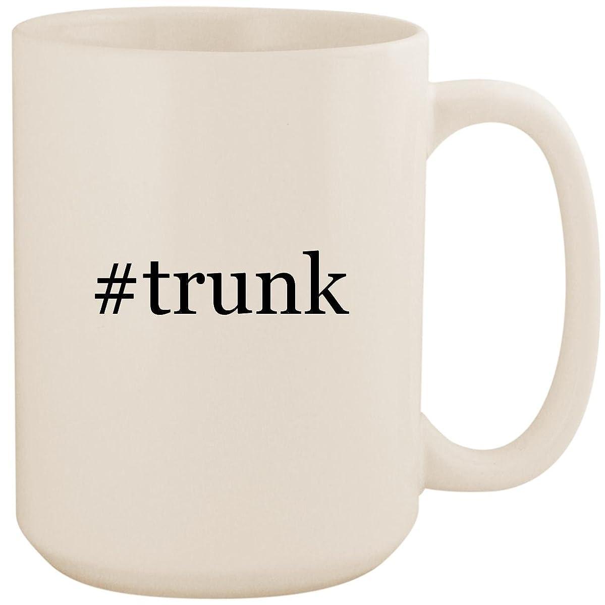 #trunk - White Hashtag 15oz Ceramic Coffee Mug Cup