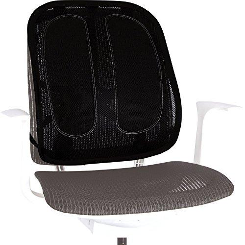Fellowes - Mesh Office Suites - Respaldo ergonómico - Cojín lumbar para apoyo de la espalda para cualquier silla. Mejora la postura, alivia el dolor de espalda y reduce la fatiga - Certificación FIRA