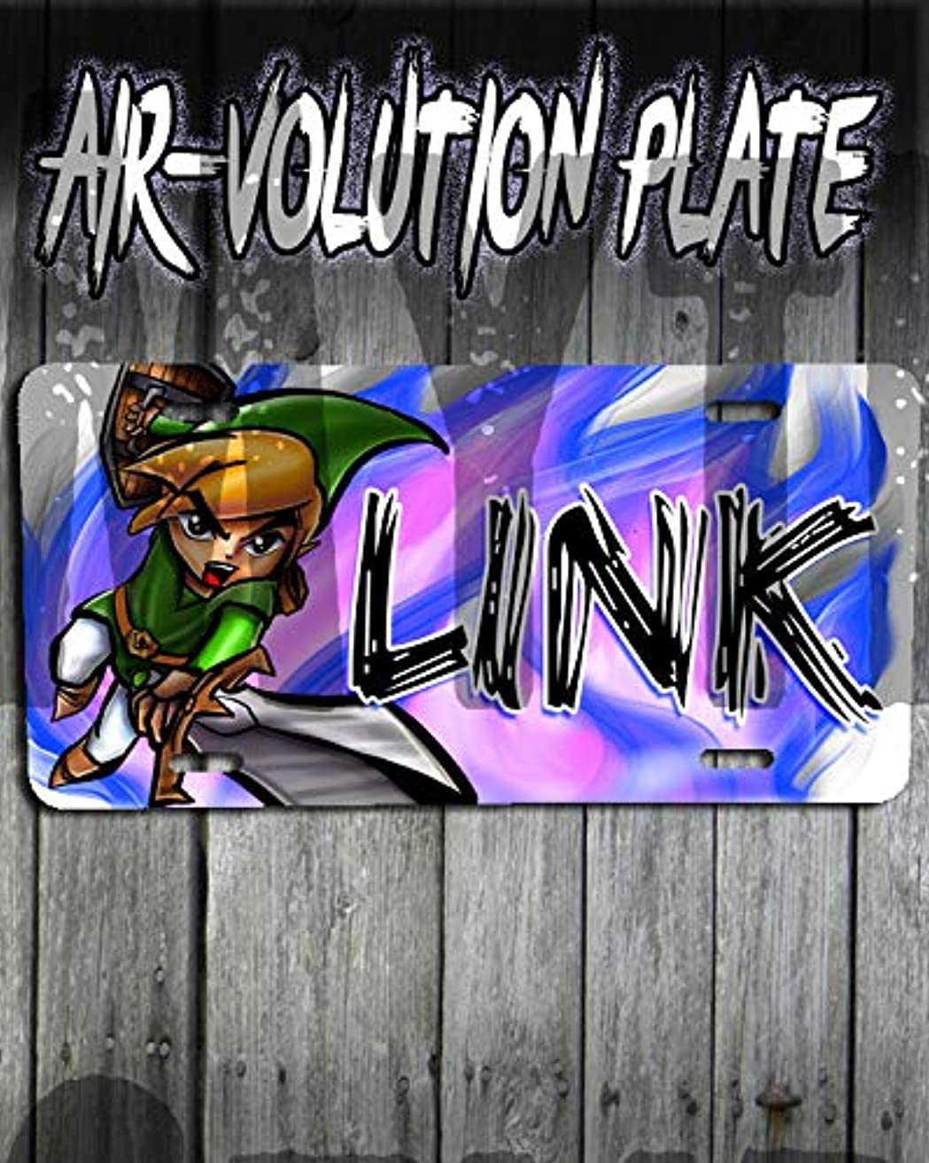 Personalized Airbrush Link Legend License Plate Tag