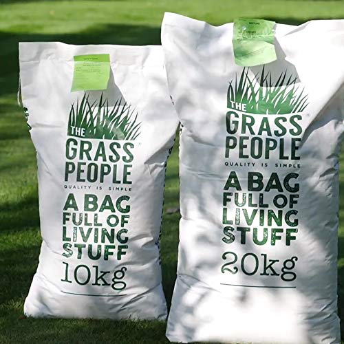 The Grass People Superstar: Back Lawn 10kg Grass Seed Lawn Seed Perfect for Families, Luxury Lawn, High Quality Lawn, Hard Wearing and Attractive Grass Lawn