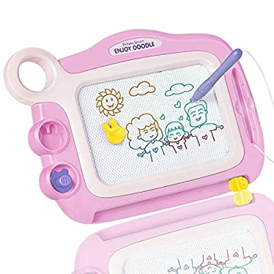 GIFT4KIDS Toys for 1-4 Year Old Girls Gifts,Magnetic Drawing Board for Kids Birthday Gifts for 1 2 3 4 Year Old Girls Gifts Age 2 3,Doodle Board Drawing Pad for Toddler Girls Toys Age 1 2 3 4(Pink)