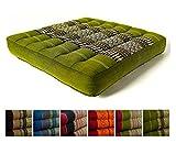 livasia Kapok Sitzkissen 35x35x6,5cm der Marke, optimal als Stuhlauflage oder Meditationskissen,...