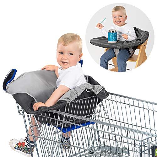 Reer HygieneCover, Schutzbezug für Einkaufswagen-Sitz und Hochstühle, 85031, grau