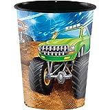 Monster Truck 16 oz Plastic Cups, 8 ct