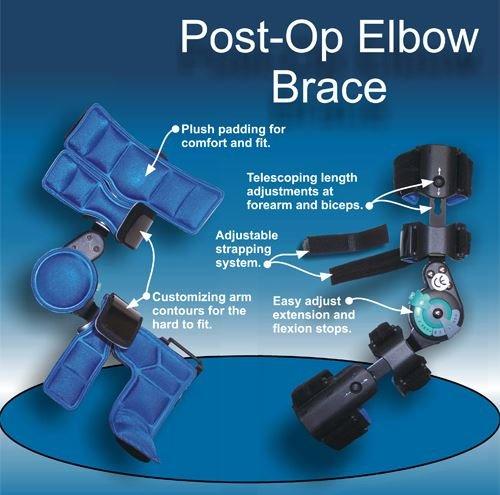 DLX Range of Motion Post Operative Elbow Brace, Left