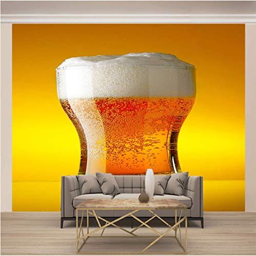 JKM Wallpaper 3D Selbstklebender Wandgemälde Vliesstoff Wandgemälde Mehrfachgröße Gelb Mode Bier Tapeten Wandbild Hintergrundbild Fototapete Wandbild, Motivtapeten, Vlies-Tapeten Abstrakt Vintage