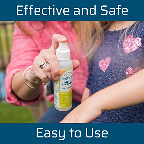Wondercide - Mosquito, Tick, Fly, and Insect Repellent with Natural Essential Oils - DEET-Free Plant-Based Bug Spray and Killer - Safe for Kids, Babies, and Family - Lemongrass 2-Pack of 4 oz Bottle