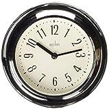 Acctim 21737 Riva Reloj de Pared, Cromado