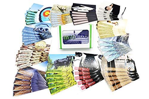 motivita Lobkarten - Box 2 - Motivationskarten zur Wertschätzung - 60 Lobkärtchen / 12 Motive