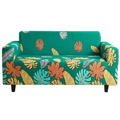DZYP Fundas de sofá, tejido elástico impreso, transpirable, cómoda y lavable, funda de sofá moderna (A-02, 4 plazas)