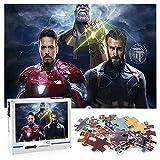 Capitán América Classic beauty Puzzle 1000 Piezas Iron Man Thanos Jigsaw Toy Juego mental Entretenimiento familiar 70x50cm-Marvel Hero