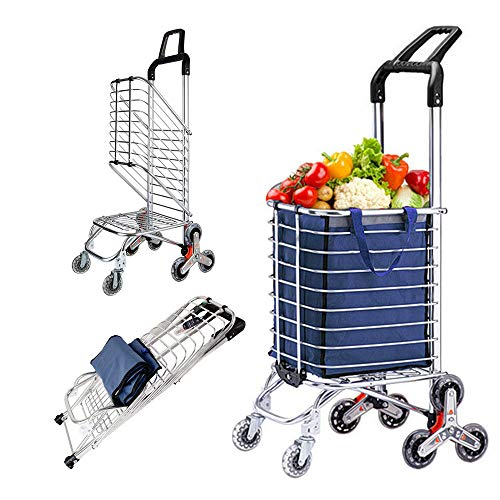 Upgraded Folding Shopping Cart Portable Grocery St...
