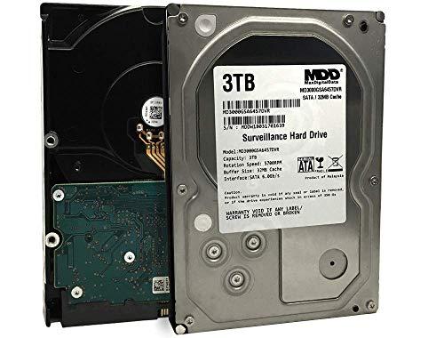 "MaxDigitalData 3TB 32MB Cache 5700PM SATA 6.0Gb/s 3.5"" Internal Surveillance CCTV DVR Hard Drive (MD3000GSA3257DVR) - 2 Year Warranty (Renewed)"