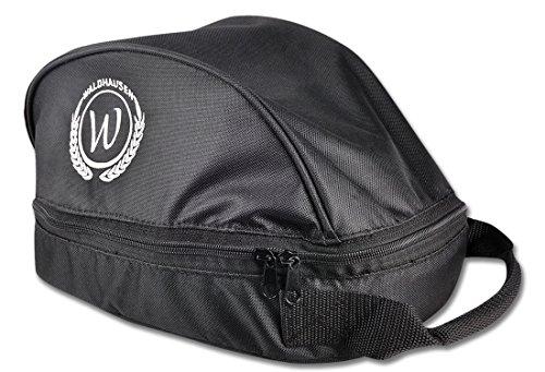 Waldhausen Bolsa para casco de equitación con cremallera, color negro