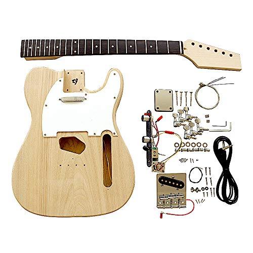 Coban Guitars TL6W - Kit para guitarra eléctrica (cuerpo de fresno con golpeador blanco)