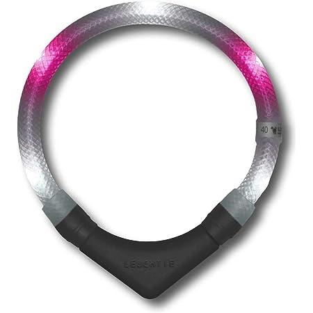 Leuchtie Leuchthalsband Plus Weiß Pink Größe 45 I Led Halsband Für Hunde I 100 H Leuchtdauer I Wasserdicht I Enorm Hell Haustier