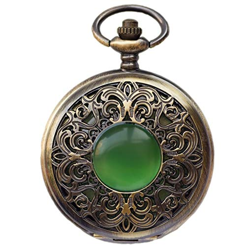 ZHJBD JIAN Pocket Watch, Reloj De Bolsillo Mecánico Automático Retro Hueco Tallado...