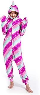 SeeShine Unisex Animal One Piece Narwhal Pajamas Cosplay Costume Onesies Sleepwear Jumpsuit for Men Women Boys Girls Adults