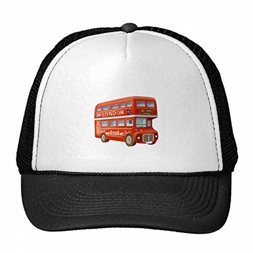 DIYthinker Britain Uk Londen Double Decker Bus Trucker Hoed Baseball Cap Nylon Mesh Hoed Verstelbare Cap