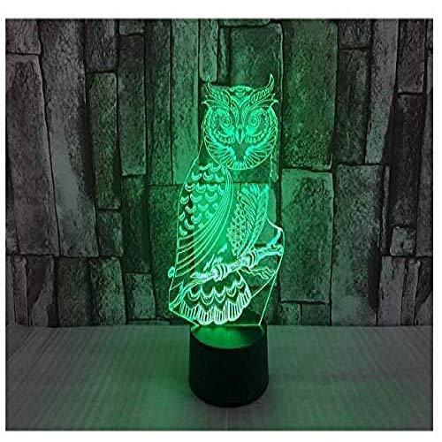 Nieuwe 3D Uil Nachtlampje Illusielamp 7 Kleurverandering Led Touch Usb Tafel Cadeau Kinderspeelgoed Decoraties Kerst Valentijnsdag Geschenk