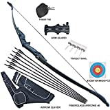 """Tongtu 51"""" 30/40LBS Takedown Recurve Bow and Arrow Set for Adult Beginners Right"""