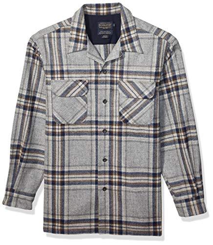 Pendleton, Men's Long Sleeve Classic-fit Board Shirt, Grey/Blue Multi, Medium
