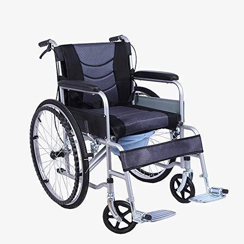 HHRen Multifunktionale tragbare Rollstuhl Doppel-Handbremse Mesh-Breath Kissen Faltbare Kleine tragbare Scooter für ältere Menschen