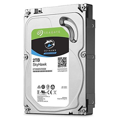 Seagate SkyHawk, 4 TB, Hard Disk Interno per Applicazioni di Sorveglianza, Unità SATA 6 GBit s, 3.5 , Cache 64 MB per Sistemi con Videocamere DVR e NVR, 3 Anni di Servizi Rescue (ST4000VX007)
