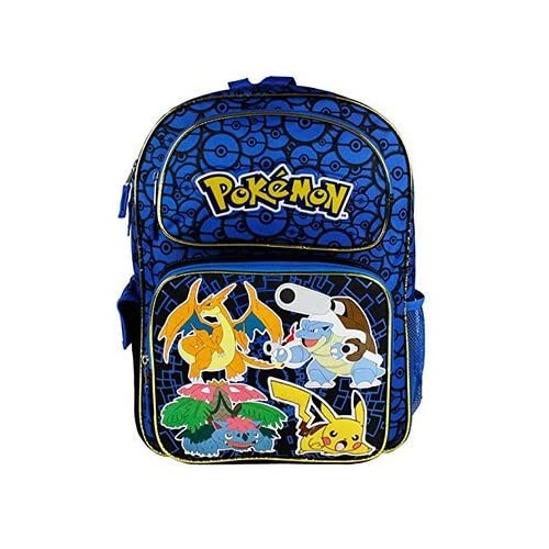 Pokemon Zoofy Full Size Blue 16 Backpack 5c7d2bed3cf59