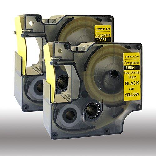 18054 S0718290 - Tubo termorretráctil compatible con DYMO Rhino IND, 9 mm...