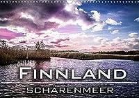 Finnland Schaerenmeer (Wandkalender 2022 DIN A3 quer): Die Suedwestkueste Finnlands ist die Heimat des Schaerenmeers. Das Meeresgebiet ist mit hunderten Schaeren und Klippen durchsetzt. (Monatskalender, 14 Seiten )