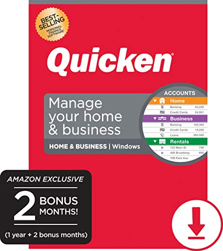 Quicken Home & Business Personal Finance - 14-Month Subscription [Amazon Exclusive] [PC Online code]