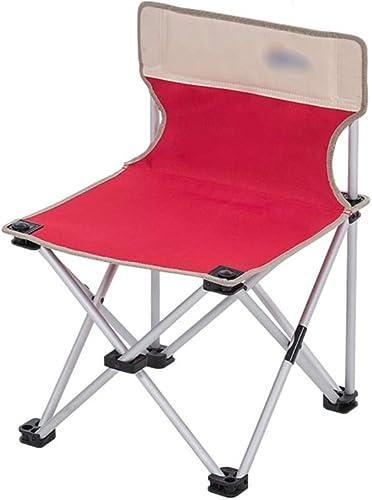 WEQ Chaise de pêche en Plein air Mazar Retour Chaise de Camping pour la pêche Stockage portable Directeur Pliant Sketch Dossier Chaise Pliante (Couleur   rouge, Taille   63  42  35CM)