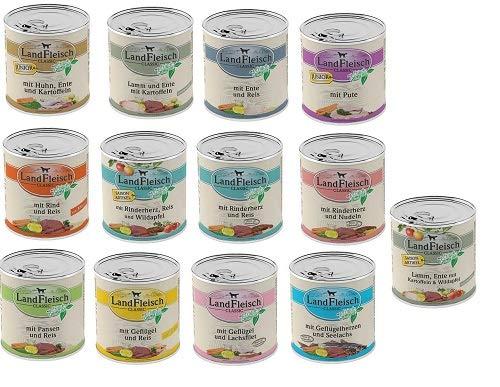 Landfleisch 18 x 800g Dosen Nassfutter - freie Auswahl aus 13 Sorten + Futterbauer Snack gratis!