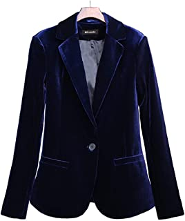 navy velvet suit womens