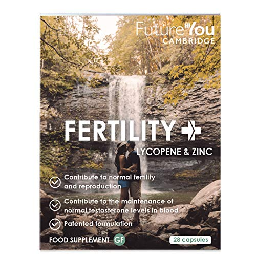 Fertility+ Men's Health Supplement - Patented LactoLycopene Formulation with Lycopene and 7.5mg Zinc - 28 Day Supply - Developed by FutureYou Cambridge, UK