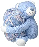 DMC Hug This Knitting & Crochet Yarn Kit with Teddy Plush Toy