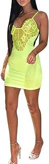Vestido para Mujer Vestido de Verano Mini Manga Corta Camiseta Larga Túnica Suelta - Lencería Femenina Ocio Sin Mangas Tops de Encaje Sexy Tirantes Finos Vestidos de Verano Chaleco Plisado Pijama