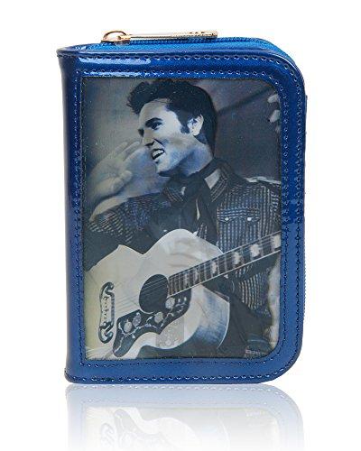 Women's Elvis Celebrity 3D Effect Design Purse Wallet/Ladies Bifold Style Card Holder Small Size 15x10.5x3.5 cm