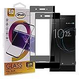Guran [2 Paquete Protector de Pantalla para Sony Xperia XA1 Smartphone Cobertura Completa Protección 9H Dureza Alta Definicion Vidrio Templado Película - Negro