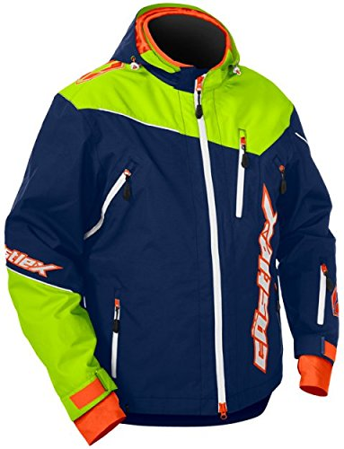 Castle X Rival Back Country Mens Snowmobile Jacket - Blue/Green - 2XL