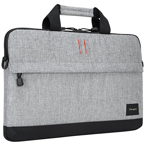 Targus Strata Slipcase Protective Laptop Sleeve with Handle for 15.6-Inch Laptop, Pewter (TSS63204US)