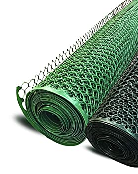 Poultry Fence hex Netting Plastic Temporary Barrier Chicken Wire Protection for Yard  3  x 25  Black