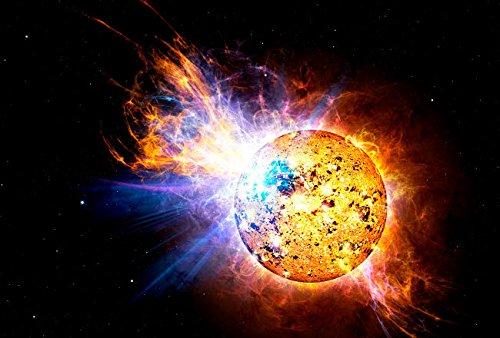 Preisvergleich Produktbild Stocktrek Images A Flare on The Star Known as EV Lacertae Kunstdruck (43, 18 x 27, 94 cm)